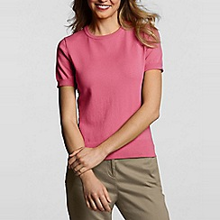 Lands' End - Pink fine gauge crew neck