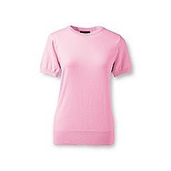 Lands' End - Pink regular supima fine gauge short sleeve crew neck