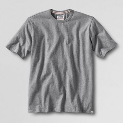 Grey durable knit jersey crew neck t-shirt