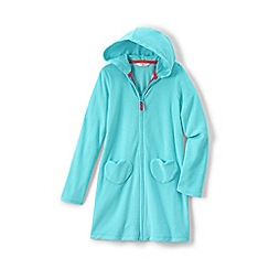 Lands' End - Blue girls' hooded towelling cover-up