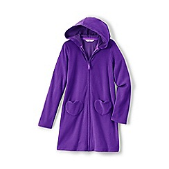 Lands' End - Purple girls' hooded towelling cover-up