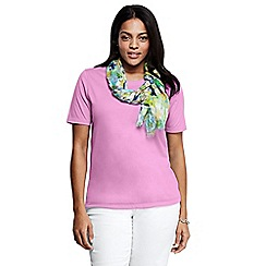 Lands' End - Pink crew neck tee