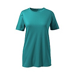 Lands' End - Green supima short sleeve crew neck tee