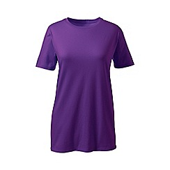 Lands' End - Purple supima short sleeve crew neck tee