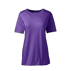 Lands' End - Purple supima short sleeve crew neck t-shirt