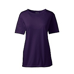 Lands' End - Purple supima short sleeves crew neck t-shirt