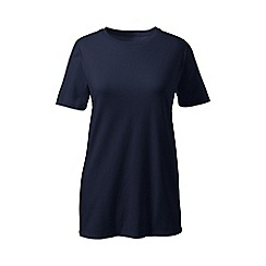 Lands' End - Blue plus crew neck tee