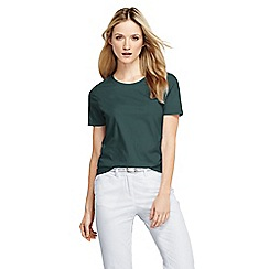 Lands' End - Green women's regular supima short sleeve crew neck tee