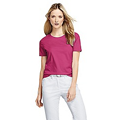 Lands' End - Pink women's regular supima short sleeve crew neck tee