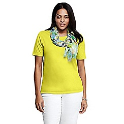 Lands' End - Yellow crew neck tee