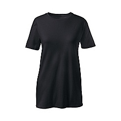 Lands' End - Black supima short sleeve crew neck tee