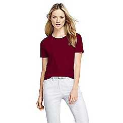 Lands' End - Red crew neck tee