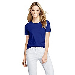 Lands' End - Blue women's regular supima short sleeve crew neck tee