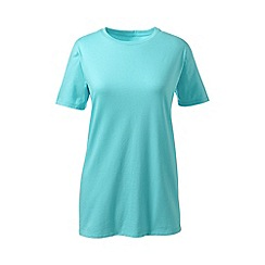 Lands' End - Blue petite supima short sleeve crew neck tee