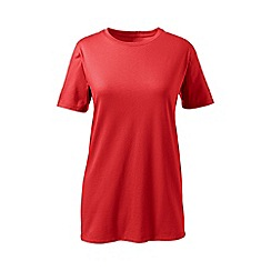 Lands' End - Red supima short sleeve crew neck tee