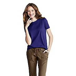 Lands' End - Blue petite crew neck tee