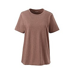 Lands' End - Brown petite supima short sleeve crew neck t-shirt