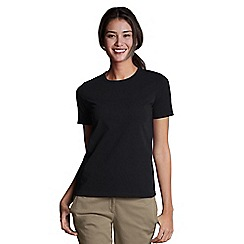 Lands' End - Black Petite Crew Neck Tee