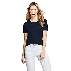 Lands' End - Blue women's petite supima short sleeve crew neck tee