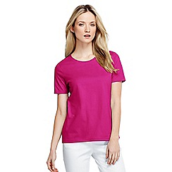 Lands' End - Pink women's petite supima short sleeve crew neck tee