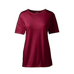 Lands' End - Red petite supima short sleeves crew neck t-shirt