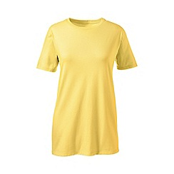 Lands' End - Yellow petite supima short sleeve crew neck tee