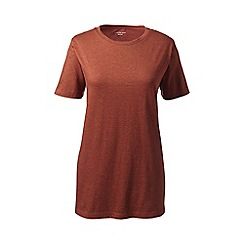 Lands' End - Orange crew neck tee