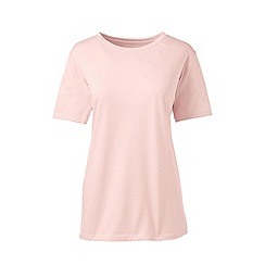 Lands' End - Pink crew neck plus t-shirt