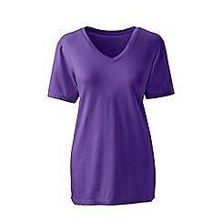 Lands' End - Purple supima short sleeve v-neck t-shirt