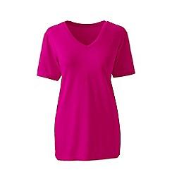 Lands' End - Pink supima short sleeve v-neck t-shirt