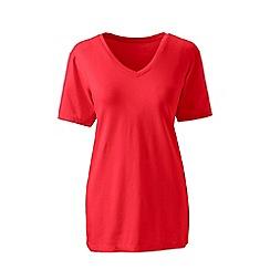 Lands' End - Orange supima short sleeve v-neck t-shirt