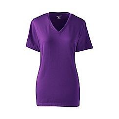 Lands' End - Purple plus supima short sleeve v-neck