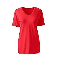 Lands' End - Orange plus supima short sleeve v-neck