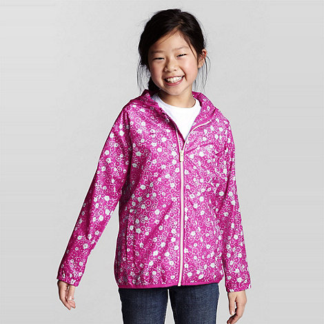 Lands+ End - Pink Navigator Packable Rain Jacket