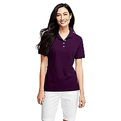 Lands' End - Purple pique polo