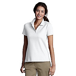 Lands' End - White Petite Pima Polo