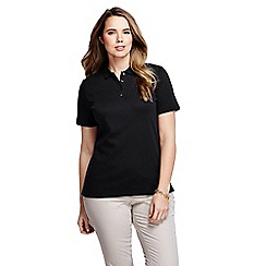 Lands' End - Black pima polo