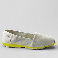 Lands' End - Beige Memory Foam Slip-Ons