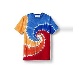 Lands' End - Boys' multicoloured short-sleeve tie-dye t-shirt