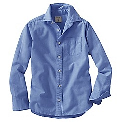 Lands' End - Blue little boys' long sleeve heritage oxford shirt