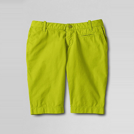 Lands+ End - Yellow girls+ bermuda shorts