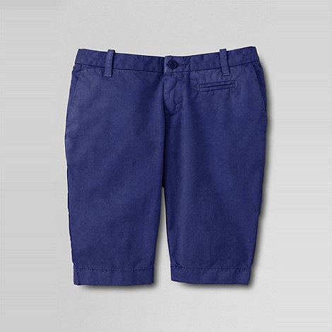 Lands+ End - Blue girls+ bermuda shorts