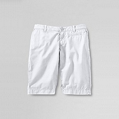 Lands' End - White little girls' bermuda shorts