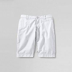Lands' End - White little girls' bermuda shorts