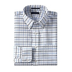 Lands' End - Multi men's regular patterned tailored fit easy/iron button/down supima oxford shirt