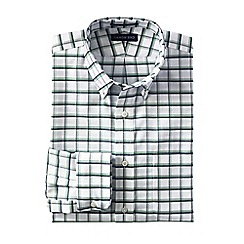 Lands' End - White men's regular patterned tailored fit easy-iron button-down supima oxford shirt