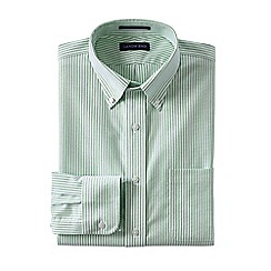 Lands' End - Green men's regular patterned tailored fit easy/iron button/down supima oxford shirt