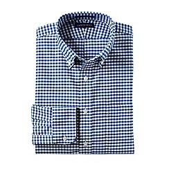 Lands' End - Blue men's regular patterned tailored fit easy-iron button-down supima oxford shirt