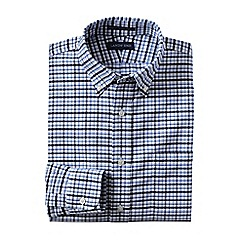 Lands' End - Red traditional fit pattern no iron oxford shirt