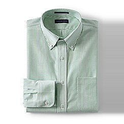 Lands' End - Green traditional fit pattern no iron oxford shirt